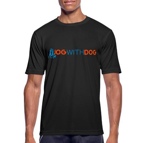 Jog with Dog - Laufen Joggen mit Hund Hundesport - Männer T-Shirt atmungsaktiv