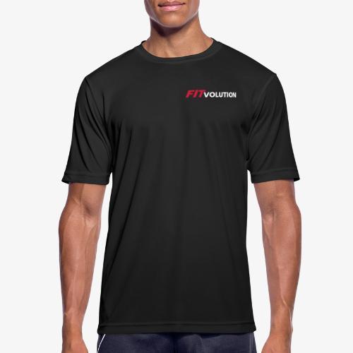 Kleines, weißes Fitvolution-Logo - Männer T-Shirt atmungsaktiv