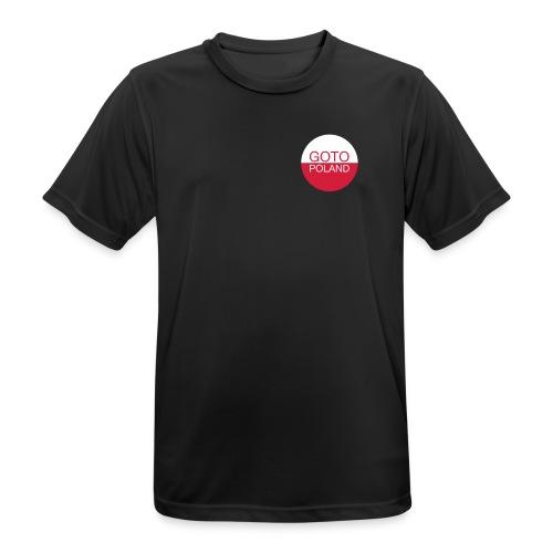 GotoPolandLogo - Andningsaktiv T-shirt herr