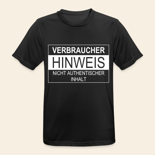 Verbraucherhinweis nicht authentischer Inhalt - Männer T-Shirt atmungsaktiv