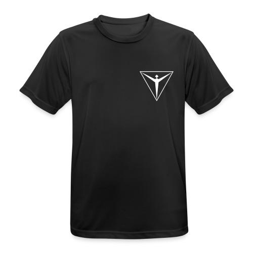 black mit - Männer T-Shirt atmungsaktiv