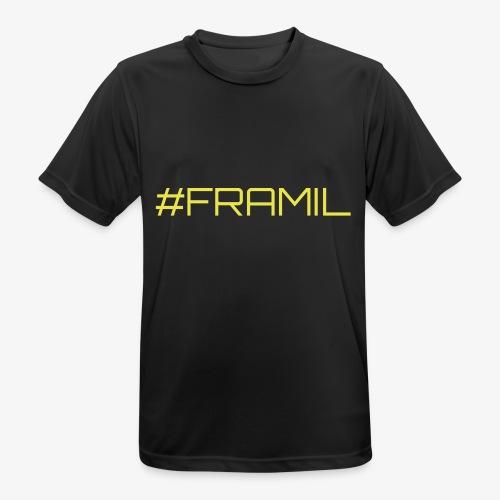 #framil - miesten tekninen t-paita