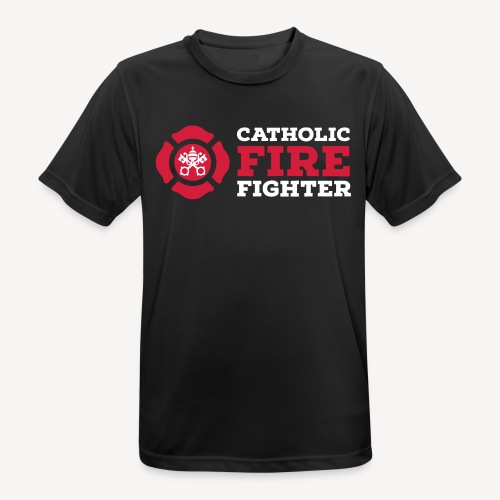 CATHOLIC FIRE FIGHTER - Men's Breathable T-Shirt