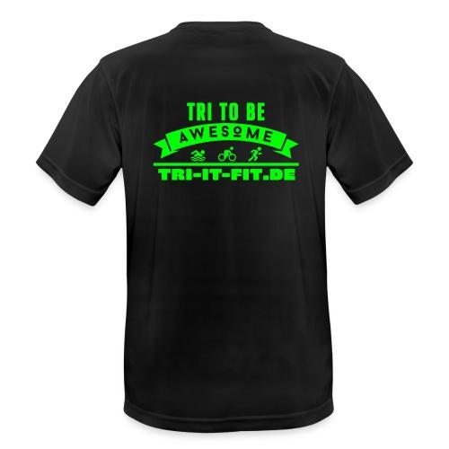 Tri it Fit Laufshirt - Männer T-Shirt atmungsaktiv