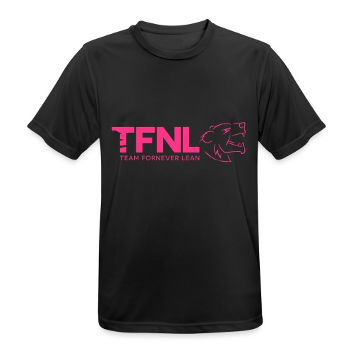TFNL Pink Logo Tee - Men's Breathable T-Shirt