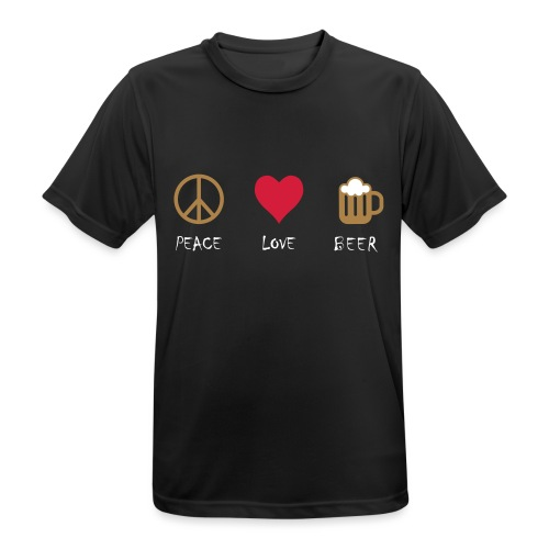 Peace Love Beer - Men's Breathable T-Shirt