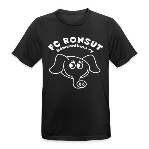 Ronsu_ry_mustat_silmat - miesten tekninen t-paita