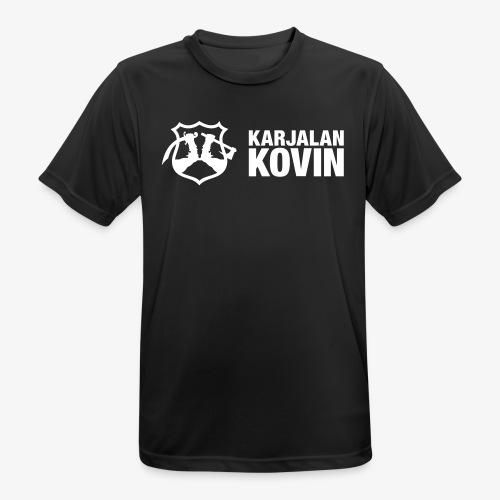 karjalan kovin vaaka - miesten tekninen t-paita