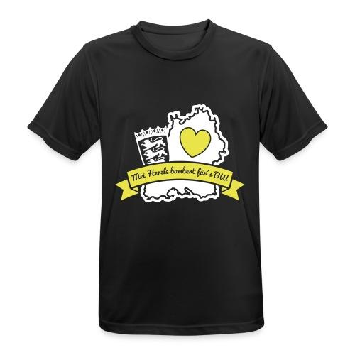 Herzle BW - Männer T-Shirt atmungsaktiv