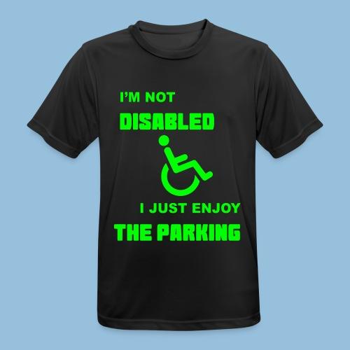 notdisabled1 - mannen T-shirt ademend