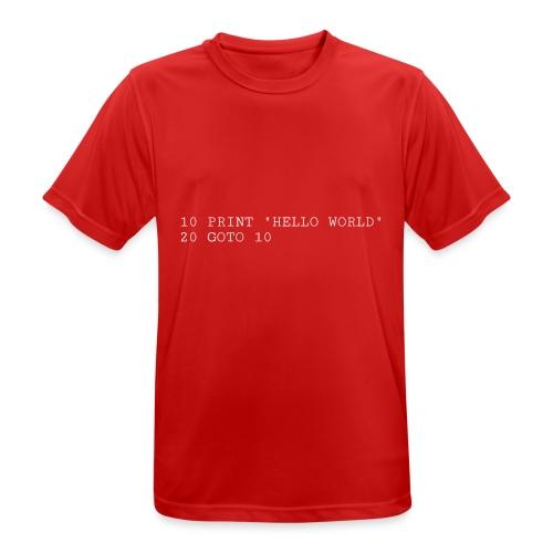HELLO WORLD - Commodore64 BASIC - Herre T-shirt svedtransporterende