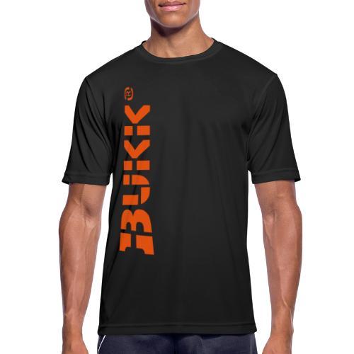 BUKK LOGO orange - miesten tekninen t-paita