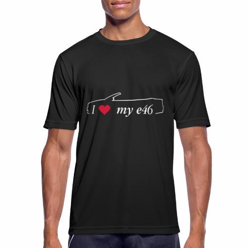 I Love my e46 Cabrio - Männer T-Shirt atmungsaktiv