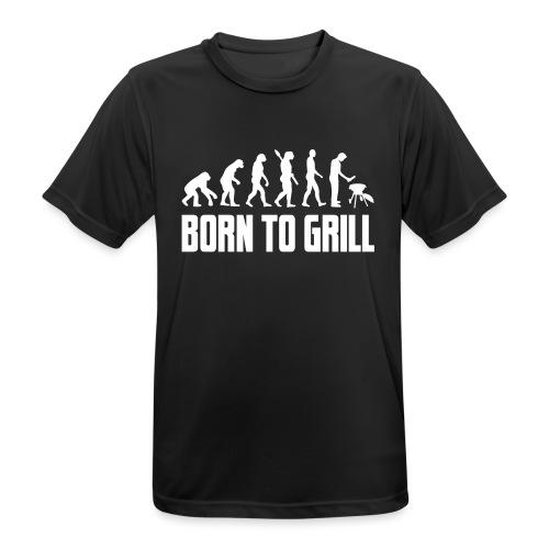 born to grill evolution - Männer T-Shirt atmungsaktiv