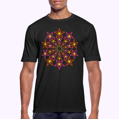 fractal estrella 3 color neón - Camiseta hombre transpirable