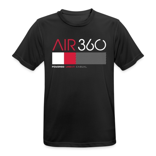 Air360black - Camiseta hombre transpirable