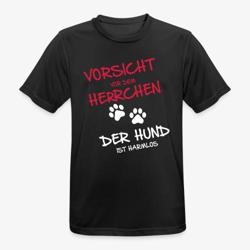 Vorsicht Herrchen - Männer T-Shirt atmungsaktiv