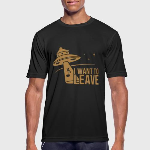 I want To Leave - OVNI - T-shirt respirant Homme