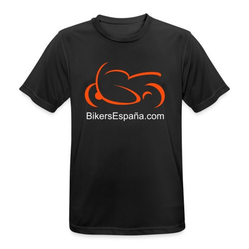 sportsbike with text - Men's Breathable T-Shirt
