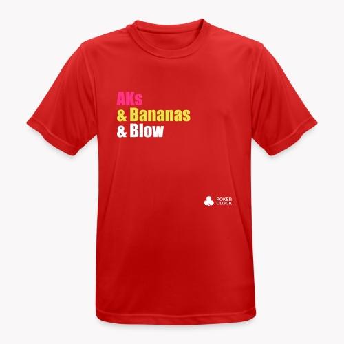 AKs & Bananas & Blow - Männer T-Shirt atmungsaktiv
