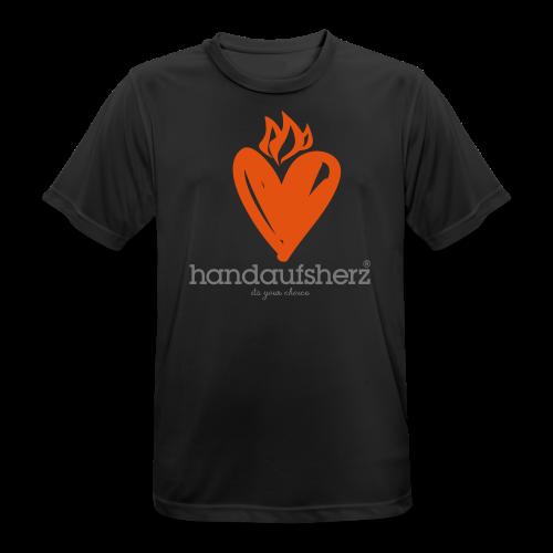 Hand aufs Herz - Männer T-Shirt atmungsaktiv