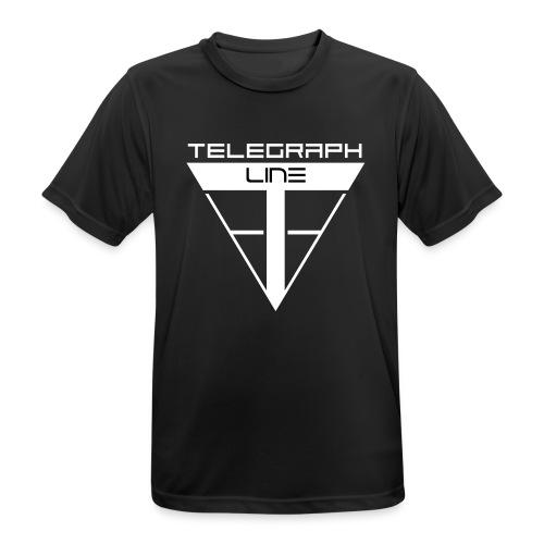 Telegraph Line Logo - Maglietta da uomo traspirante
