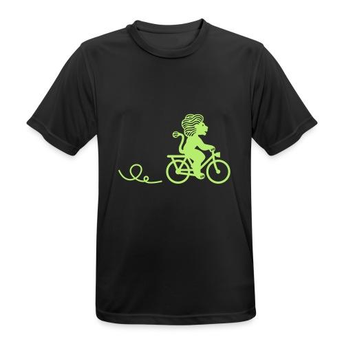 Züri-Leu beim Velofahren ohne Text - Männer T-Shirt atmungsaktiv