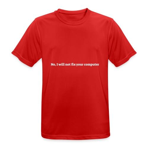 No I will not fix your computer - Herre T-shirt svedtransporterende