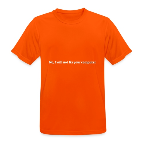 No I will not fix your computer - Herre T-shirt svedtransporterende