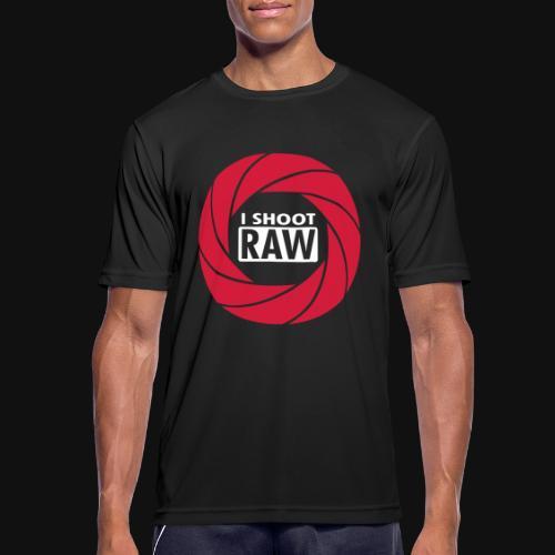 I SHOOT RAW - Männer T-Shirt atmungsaktiv