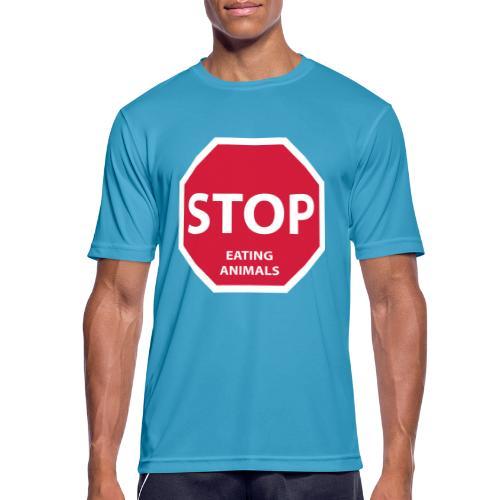 Stop-Eating-Animals - Männer T-Shirt atmungsaktiv