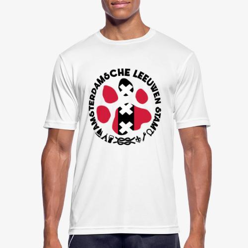 ALS witte cirkel lichtshi - Mannen T-shirt ademend actief