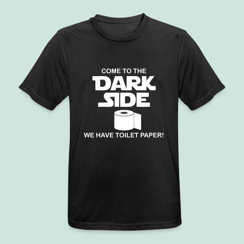 Toilettenpapier Dark Side - Männer T-Shirt atmungsaktiv
