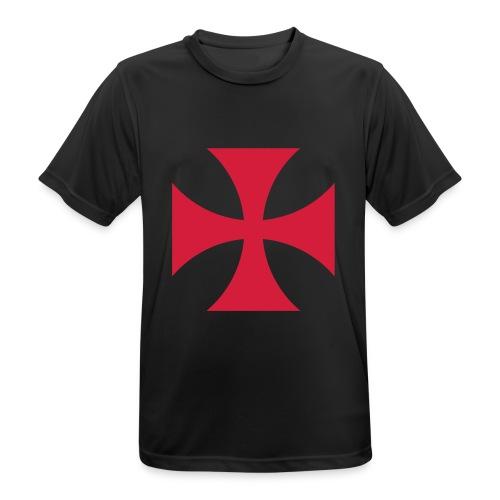 The Templar Cross Shirt - Männer T-Shirt atmungsaktiv