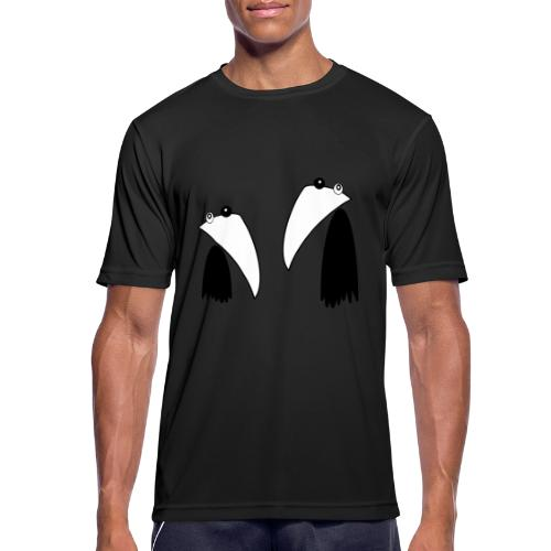 Raving Ravens - black and white 1 - Men's Breathable T-Shirt