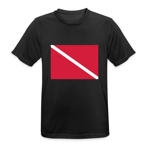 Diver Flag - Men's Breathable T-Shirt
