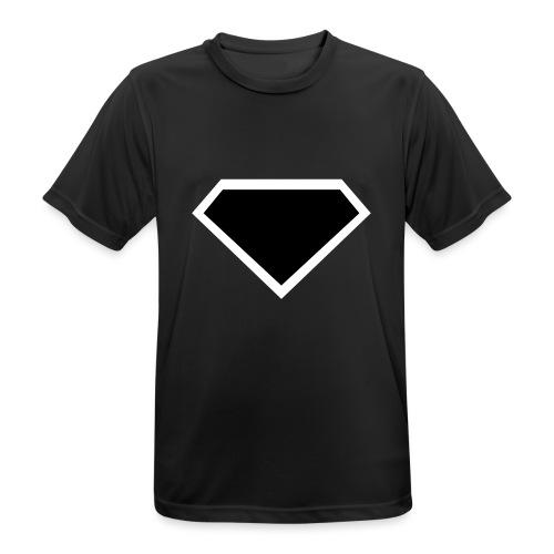 Diamond Black - Two colors customizable - Mannen T-shirt ademend actief
