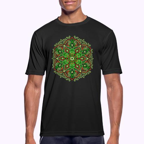 Mandala de loto de fuego - Camiseta hombre transpirable