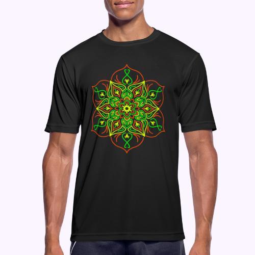 Flor de loto de fuego - Camiseta hombre transpirable
