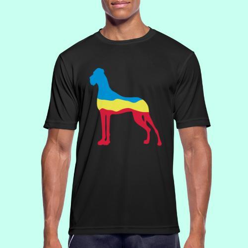 Flaggen Dogge - Männer T-Shirt atmungsaktiv