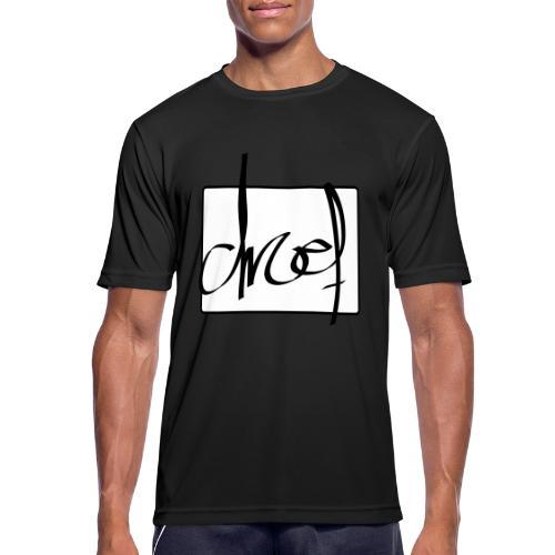 Droef.Gent logo zwart - Mannen T-shirt ademend actief