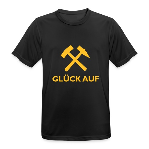 Glück Auf! - Männer T-Shirt atmungsaktiv