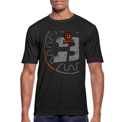 BUKK SPSHIRT maviensutkahville orange - miesten tekninen t-paita