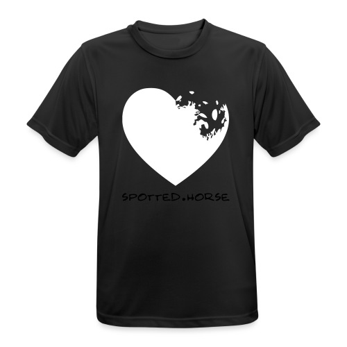 Cuore Appaloosa (bianco/rosso) - Maglietta da uomo traspirante
