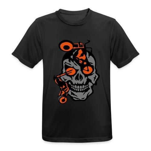 tete mort moto motrocycle oeil skull - T-shirt respirant Homme