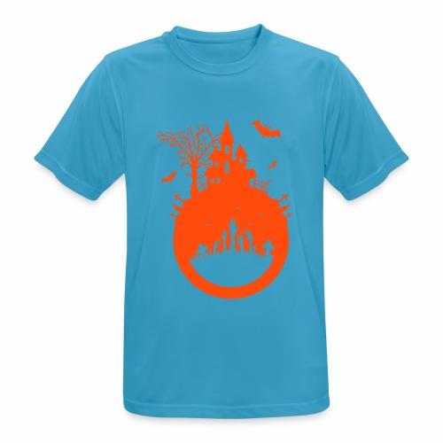 Halloween Design - Das Spukhaus - Männer T-Shirt atmungsaktiv