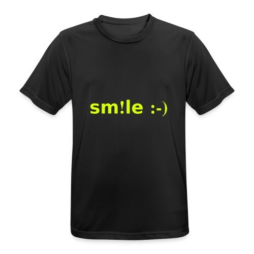 smile - sorridi - Maglietta da uomo traspirante