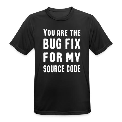 Programmierer Beziehung Liebe Source Code Spruch - Männer T-Shirt atmungsaktiv