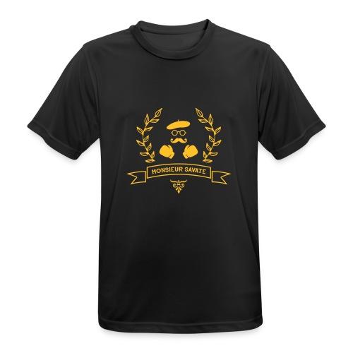 Monsieur Savate logo1 - T-shirt respirant Homme