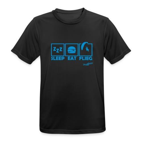 SleepEatFlieg - Männer T-Shirt atmungsaktiv